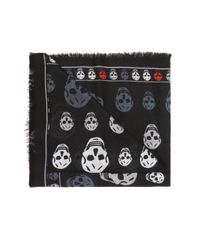 Alexander McQueen - Black Logo Shawl for Men - Lyst
