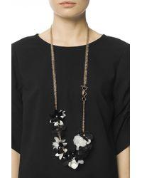 Lanvin - Metallic Floral Motif Necklace - Lyst