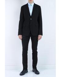 Emporio Armani - Black Textured Fabric Jacket for Men - Lyst