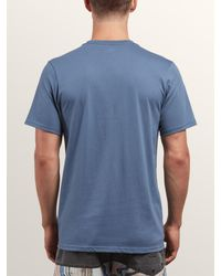 Volcom - Blue Classic Stone Tee for Men - Lyst