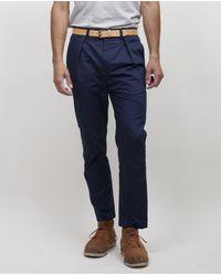 CAMO   Multicolor Camo Jfk New Classic Trouser - Navy Popeline for Men   Lyst