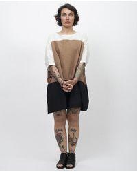 Uzi - Brown 3 Stripe Colorblock Dress - Tan/white/black - Os - Lyst