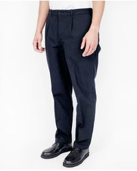 Still By Hand - Blue Hard Canvas Pants / Navy for Men - Lyst