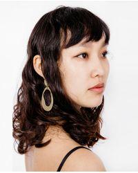 Modern Weaving   Multicolor Large Oval Hoop Earrings   Lyst