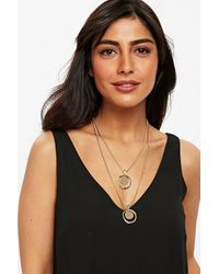 Wallis - Metallic Gold Look Multirow Necklace - Lyst