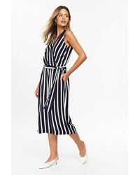 4424d3d37e61 Wallis Petite Navy Striped Jumpsuit in Blue - Lyst