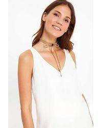Wallis - Natural Purple Semi-precious Stone Wrap Choker Necklace - Lyst
