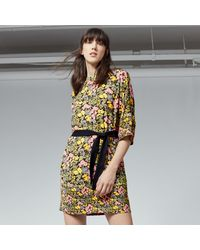 Warehouse | Black Garden Posy Shift Dress | Lyst