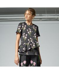 Warehouse | Black English Rose Top | Lyst