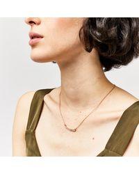 Warehouse   Metallic Graduated Crystal Bar Necklace   Lyst
