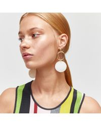 Warehouse - Multicolor Shell Three Drop Earring - Lyst
