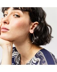 Warehouse - Metallic Large Tear Drop Earrings - Lyst