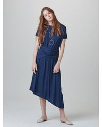W Concept - Blue Day Jersey Dress - Lyst
