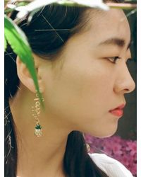 VON DITOLE - Metallic T R O P I C S Fine Gold Earring - Lyst