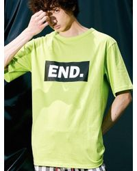 W Concept - Multicolor Box End Oversized 1 2 Sleeve Lime for Men - Lyst