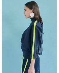 W Concept - Blue Dolman Sleeve Balloon Blouse Ny - Lyst
