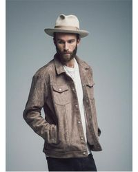 SAINTPAIN - Multicolor [unisex] Sp Leyton Suede Work Jacket Choco for Men - Lyst