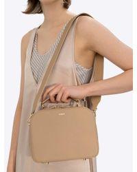DEMERIEL - Natural Box Bag Beige Medium - Lyst