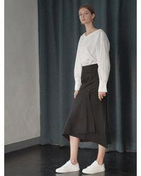 NILBY P - Black Unbalanced Mermaid Skirt - Lyst