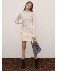 1159STUDIO - White Mh7 Side Shirring Turtleneck_iv - Lyst