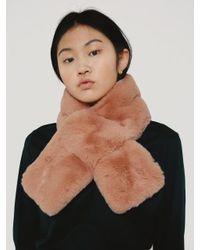 W Concept - Benny Fur Muffler Indi Pink - Lyst