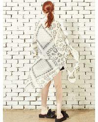 Blank - White Chiffon Print Robe-wh - Lyst