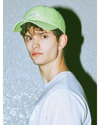 Charms - [unisex] S Logo Cap Yellow Green for Men - Lyst
