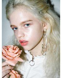 CLUT STUDIO - Metallic 1 4 Sway Me Pearl Drop Earrings - Lyst