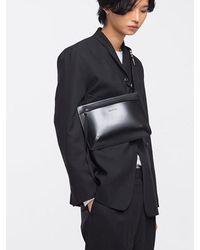 W Concept - Black Leather Soldier Cross Bag for Men - Lyst