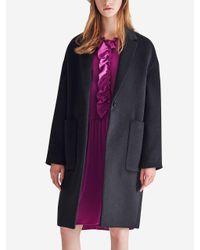A.T.CORNER - Black Mixed Wool Outpocket Singlecoat - Lyst