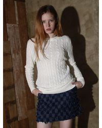 Noir Jewelry - Blue Cable Knit - Lyst