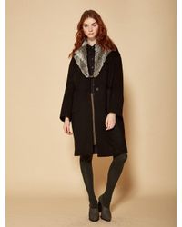 W Concept - Tailored Coat Black - Lyst
