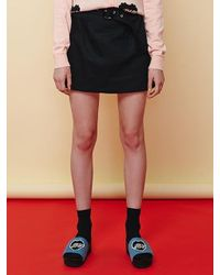 Margarin Fingers - Black Belt Mini Skirt - Lyst