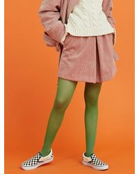 ANOTHER A   Corduroy Front Pleats Skirt (pink)   Lyst