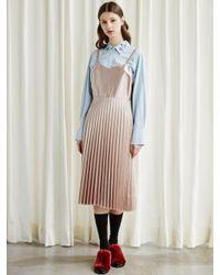 TIBAEG - Pink Op-7a096_ti Baeg Pleats Op Dress - Lyst