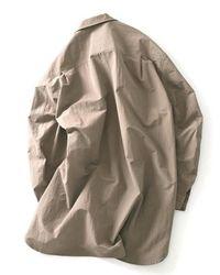 W Concept - Natural Oversized Shirt Coat Sand Beige for Men - Lyst