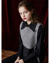 W Concept | Multicolor Short Tweed Vest | Lyst