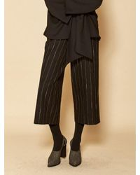 W Concept | Stripe Pants_black | Lyst