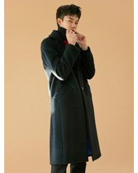 BONNIE&BLANCHE - [unisex] Warning Embroidery Long Coat Black for Men - Lyst