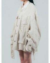 ULKIN - Natural Collection Label Belted Sleeve Linen Jacket - Lyst