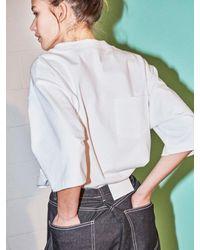 NOHANT [unisex] Do-not-reverse T-shirt White