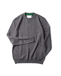 Still By Hand - Gray Elbow Patch Knit Grey for Men - Lyst