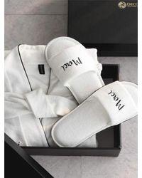 W Concept - [gift Set] White Shower Gown+ Slipper Set - Lyst