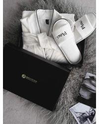 W Concept | [gift Set] White Shower Gown+ Slipper Set | Lyst