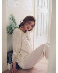ULLALA PAJAMAS - Natural Eclad Cream Long Sleeve Twopiece - Lyst