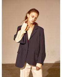 Bouton - Blue Manly Slit Blazer-navy Stripe - Lyst