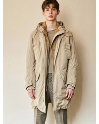 YAN13 - Natural Semi-sized Hoodie Duck Down Jumper_beige - Lyst