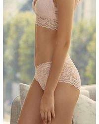 EBLIN Multicolor Four Third Cup Lace Bralette - Hipster Briefs