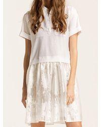 W Concept - White [wxo] Mandarin Collar Dress - Lyst