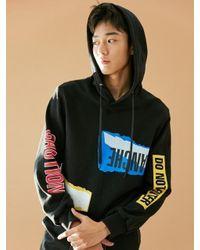 BONNIE&BLANCHE - [unisex] Collage Hooded Sweatshirt Black for Men - Lyst
